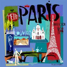Tour Paris - Global Canvas Wall Art | Greenbox