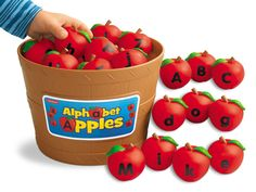 Children will have a barrel of fun with Lakeshore's Alphabet Apples! They help kids build letter skills by spelling simple words, sequencing, and learning uppercase & lowercase letters!