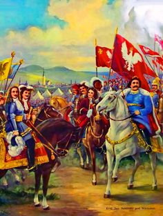 Polish king John III Sobieski meeting German field marchal prince Georg Friedrich of Waldeck during the Battle of Vienna Battle Of Vienna, King John, Armies, Central Europe, Eastern Europe, Poland, Warriors, Knight, Medieval