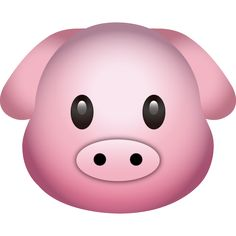 Download pig emoji icon! This adorable pink pig head emoji is sure to hog the spotlight!