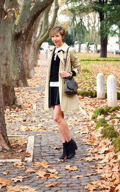 Black & Beige, Trench & Leather  http://www.coffeeblooms.com/coffeeblooms/2014/12/black-beige-trench-leather/  #leather #black #winter    #fashion #style #look #outfit #closet #wear #dressup #fashionable #chic #streetstyle #style