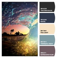 Upload a picture and this site will tell you the corresponding paint colors.
