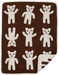 Organic Cotton Bruno Bear Blankets in Brown