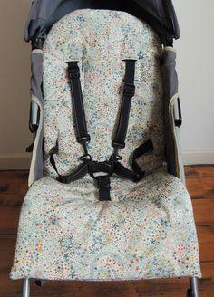 Assise pour poussette en Liberty www.demeuredesanges.canalblog.com