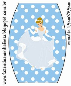 Cinderella Free Printable Nail Polish Label.