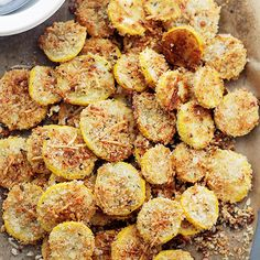 Garlic Parmesan Yellow Squash Chips Recipe | Diethood