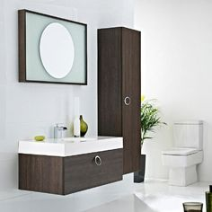 Get Better bathroom furniture uk Our bathroom furniture comes in many different shapes and sizes to meet any requirements. We have a range of contemporary vanity units furniture. Oak Bathroom Furniture, Custom Bathroom Cabinets, Wall Mounted Bathroom Cabinets, Bathroom Interior, Interior Paint, Bathroom Storage, Modern Interior, Furniture Vanity, Leather Furniture