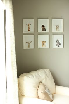 baby animal prints for nursery... so cute!