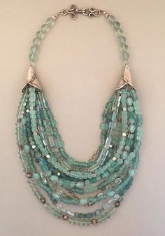 Multi-strand fluorite and sterling silver statement necklace. Handcrafted, one-of-a-kind.