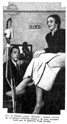 Blackie en nota de la revista CARAS y CARETAS, 1934.