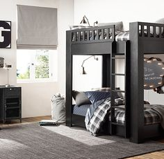 Classic bunk bed reimagined in a clean, contemporary silhouette.