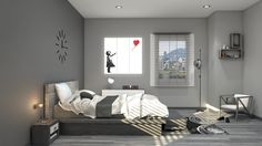 Infoarquitectura 3D, infoarchitecture, house, bedroom