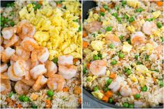 Menu HomeAboutRECIPESLifeShopFor BloggersSubscribeInstagramFacebookFollow me on PinterestYouTubeGoogle+   Search        Recipes         Print Shrimp Fried Rice Recipe   February 16, 201186 comments      This is one of my go-to 30-minute meals and my boys can't get enough of this shrimp fried rice. My husband and I have been on a Chinese food kick the past month or two…. or three. This is a nice way to use leftover rice. The sesame oil makes it smell and taste like authentic Chinese shrimp…