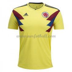 Billige Colombia Drakt VM 2018 Kortermet Hjemme Fotballdrakter