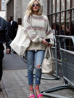 Fearne Cotton- I like everything but the shoes. Love her hair and glasses!