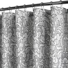 Park B. Smith® Rococo Scroll Silver 72 X 72 WaterShed® Shower Curtain   Bed  Bath U0026 Beyond