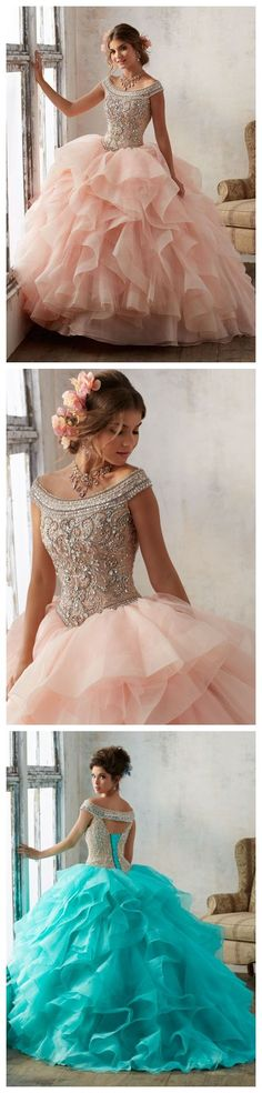 Bright Blush Pink Tulle Quinceanera Dresses Ball Gowns Strapless Sweet 16 Dress Tulle Long Cute Evening Dresses Party Gown