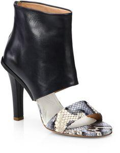 Maison Martin Margiela Python Leather Sandal Ankle Boots in Animal (BLACK) | Lyst