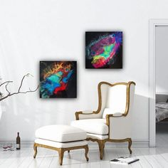 Art_By_SDS (@art_by_sds) • Instagram-Fotos und -Videos Resin Art, All Art, Acrylics, Epoxy, The Help, Accent Chairs, Videos, Wall, Furniture
