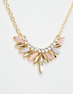 Designsix Multi Navette Stone Necklace