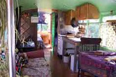 Psychedelic Decorating: Hippie Bus Interior (Photo courtesy of Shelburne Museum)