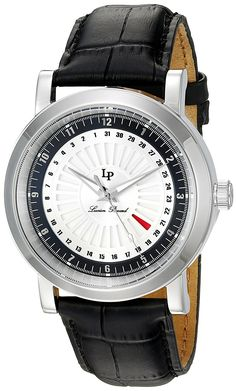 Lucien Piccard Watches Ruleta Leather Band Watch -- You can get more details by clicking on the image.