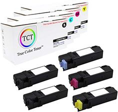 5 Pack TCT Compatible Xerox Replacement Toner Cartridge Replaces OEM: Box Contains: 2 Black, 1 Cyan, 1 Magenta, 1 Yellow toner cartridges Printer Compatibility: Xerox Phaser 6140 Printer Scanner, Toner Cartridge, Printers, Magenta, Oem, Packing, Yellow, Black, Bag Packaging