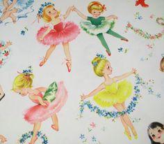 RESERVED Ballerina Girls Vintage Gift by HolidayKitschklatsch