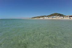 Vista de la playa de Zahara desde el mar