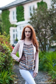 "Eva Kayan sequin top from Design Platform €135.00; Eva Kayan jacket from Design Platform €170.00 | Connemara Life 2015 | ""Seasons of Ireland on the Wild Atlantic Way"" 