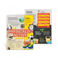 Physical Activity MyPlate Handouts: Explains why physical activity is important and how much is needed, highlights the four different types of physical activity, gives examples of moderate and vigorous activities, and more.