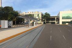 As diretrizes urbanísticas e de design para o VLT, Veículo Leve sobre Trilhos, procuram reforçar os valores e a identidade do transporte público no Rio de Janeiro.