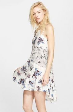 Free People 'Crescent' Print Slipdress available at #Nordstrom