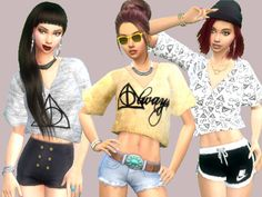 Set of three t-shirts inspired on Harry Potter!  Found in TSR Category 'Sims 4 Female Everyday'