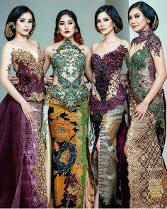 Kebaya Kebaya Lace, Kebaya Hijab, Kebaya Dress, Batik Kebaya, Batik Dress, Kebaya Bali Modern, Model Kebaya Modern, Kebaya Wedding, Wedding Hijab