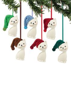 Another great find on #zulily! Cat Ornament Set #zulilyfinds