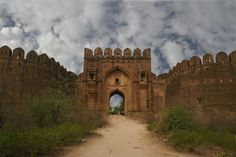Rohtas Fort, built in the 1540s by Sher Shah Suri, an Afghan, is one of the most imposing historical monuments in Pakistan. It is situated on the bank of the Kahan River near Dina, 12 miles northwest of Jhelum in Punjab. It was built to resist the forces of the Gakkhars, the most powerful tribe of the Potohar. Village Mlundi was situated here, but after the construction of the fort, the place was named Rohtas after another Rohtas Fort in Behar (India), which Sher Shah had captured earlier.