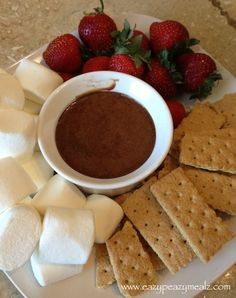 crockpot smore fondue1 Crockpot Smore Fondue. Might have to add this to the holiday lineup at some point...