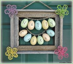 Easter Picture Frame Wreath | SQUARE, RECTANGLE, OVAL AND FRAME WREAT…