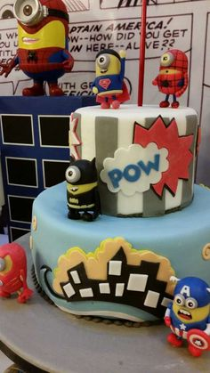 Fantastic cake at a Despicable Me Minion birthday party! See more party planning ideas at CatchMyParty.com!