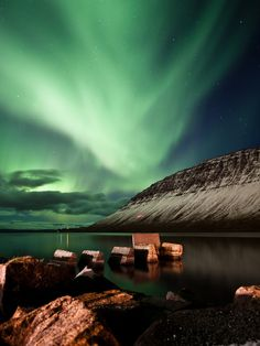 northern lights, iceland.