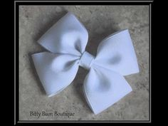How To Make A Flat Boutique Hair Bow (Pinwheel Hair Bow) Tutorial - YouTube