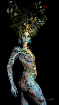103 large The post Bodypainting appeared first on Woman Casual - Tattoos And Body Art Graffiti Ideas, Fantasy Makeup, Fantasy Art, Body Painting Pictures, Body Painting Festival, Photo Lovers, Full Body Paint, Art Vintage, Art And Illustration