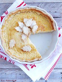 Buttermilch Pie mit Pflaumen Kompott   Meine Küchenschlacht