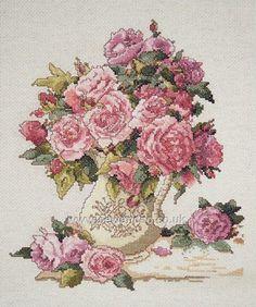 Buy China Roses Cross Stitch Kit Online at www.sewandso.co.uk