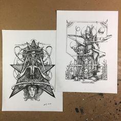 Star-based and Bonaventure #ink #drawings in progress part 2