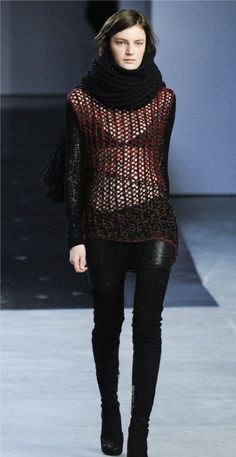The Helmut Lang brand put #crochet on the NYFW runway for Spring Summer 2012