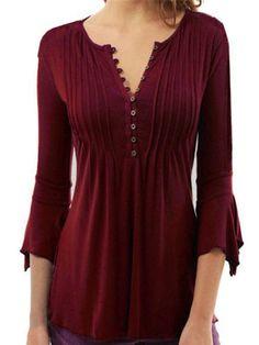 b4d6ff36dbc93 Plus Size Casual Ruched Shirt. 3xl ShirtsShirt ...