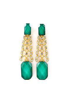 Deco Laurel Earrings in Paris Shimmer