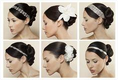 How about creating your own hair accessories for your wedding? That way they will be completely unique to you and you can also add the exact colours to match you colours scheme. For a really inexpensive hen party idea, why not get everyone to bring some ribbon, lace, slides, clips, feathers and sparkles and actually make your hair accessories at your hen party! That way you and your bridesmaid will have something one of a kind which they made themselves!
